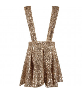 Gold girl ''Stella'' skirt with sequins