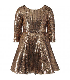 LE GEMELLINE BY FELEPPA Pink girl ''Brillo'' dress with sequins