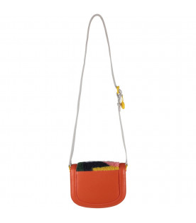 Orange girl bag with colorful details