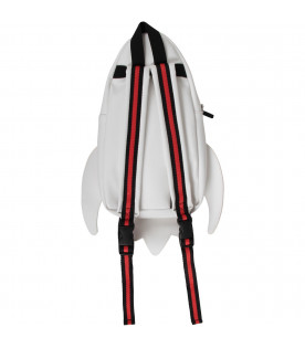 STELLA MCCARTNEY KIDS White, black and red  boy backpack