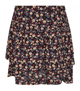 Black woman skirt with flowers