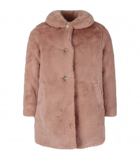 BONPOINT Pink girl faux fur