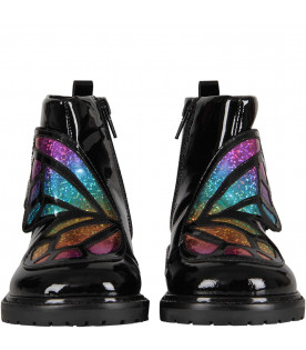 "SOPHIA WEBSTER MINI Black ""Karina"" girl boots"