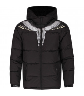 Black boy bomber jacket with iconic wings