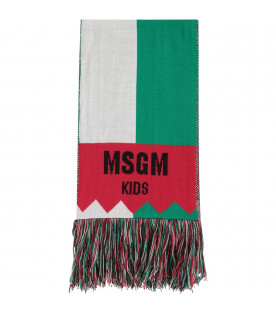 "Green and red kids ""Bar Basso"" scarf"