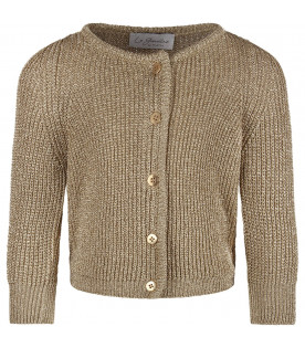 Gold ''Dafne'' girl cardigan