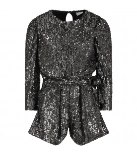Black girl ''Lily'' jumpsuit with sequins