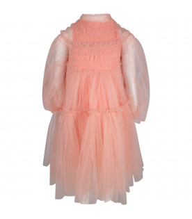 Pink ''Sunrays'' girl dress