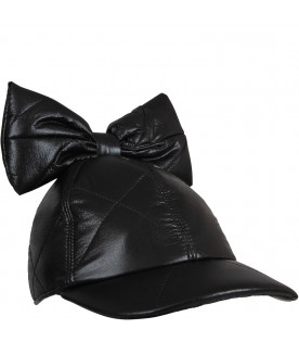 Black girl hat with bow