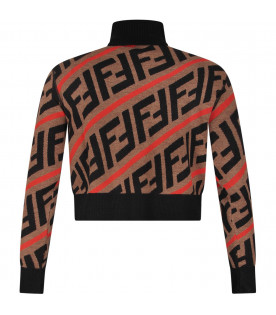 Brown girl sweater with double FF