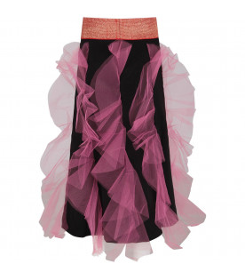 Black girl skirt with colorful bow