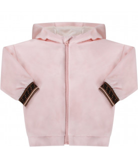 Pink babygirl sweatshirt with double FF