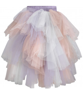 Lilac ''Isabel'' girl skirt with tulle