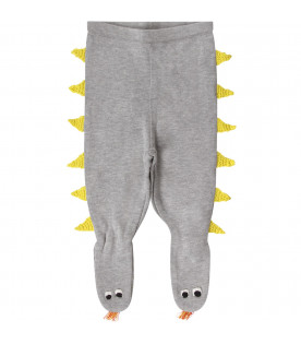 Grey babykids stockings with yellow spikes