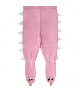 Pink babygirl stockings with white spikes
