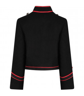 Black boy jacket with red details