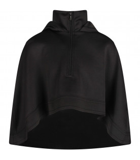 Black girl poncho with silver logo