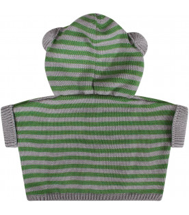 Grey and green baby cape