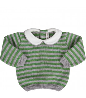 Grey and green babyboy suit