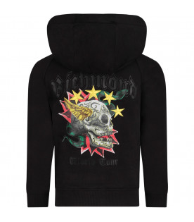 Black girl sweatshirt with iconic skull