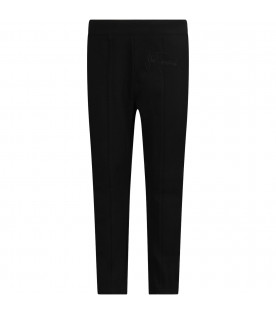 Black girl pants with black logo