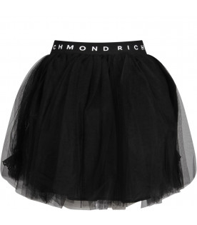 Black girl skirt with white logo