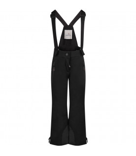 Black kids dungarees with rubbered patch