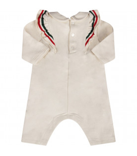 Ivory babygirl babygrow with bow