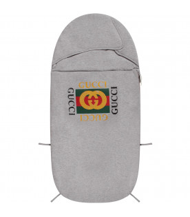 Grey babykids sleeping bag with logo