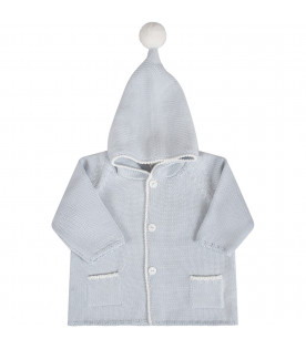Light blue babyboy coat with light blue details