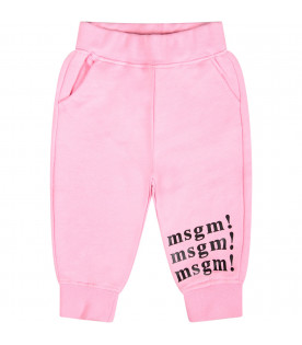 Pink baby sweatpants