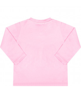 Pink baby t-shirt with logo