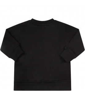 Black baby t-shirt with logo