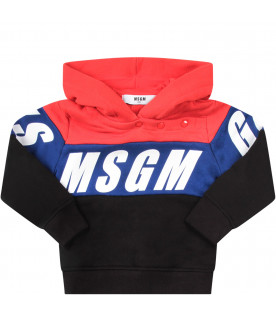Red and black baby tracksuit with logo