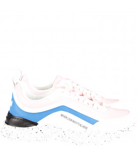 White and pink sneaker