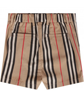 Striped baby boy shorts