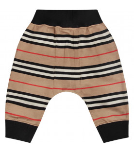 Striped sweatpants for baby boy