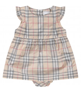 Checked baby girl dress
