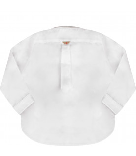 White  baby boy shirt