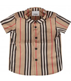 Striped baby boy shirt