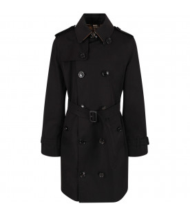 Black kids trench coat