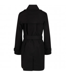 Black trench coat for girl