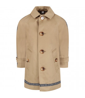 beige kids trench coat