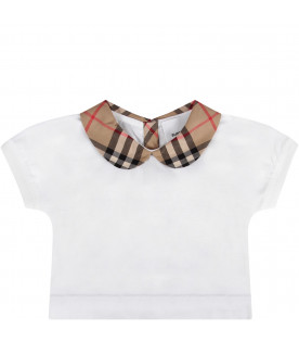 White baby girl t-shirt
