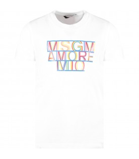 White girl ''Msgm amore mio'' T-shirt