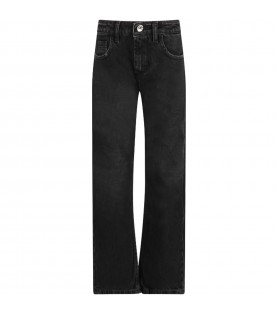 Black boy jeans with red logo