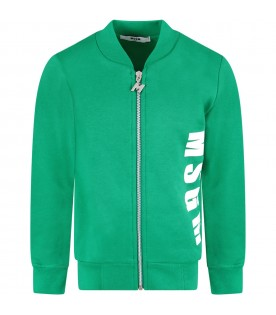 Green boy sweatshirt with logos