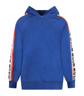 Blue boy sweatshirt with stripes