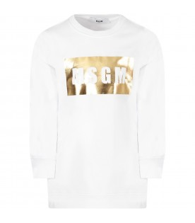White girl sweatshirt with gold square
