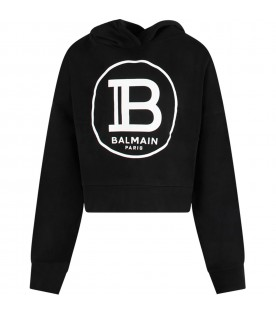 Black girl sweatshirt with white logo